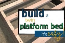 How To Build A Twin Platform Bed