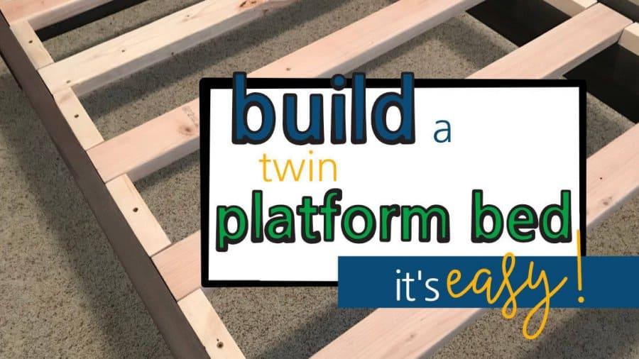 Build a Twin Platform Bed