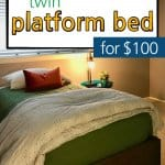 This bed is a DIY Twin Platform Bed!