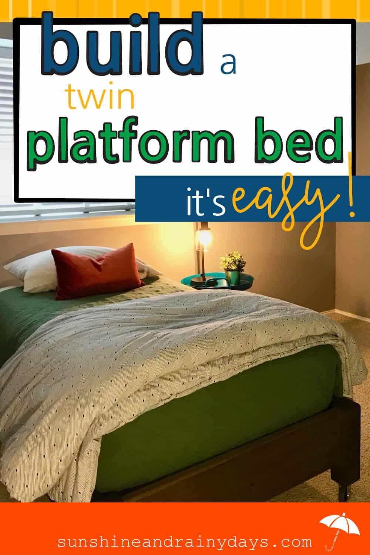 Build this Easy DIY Platform Bed!