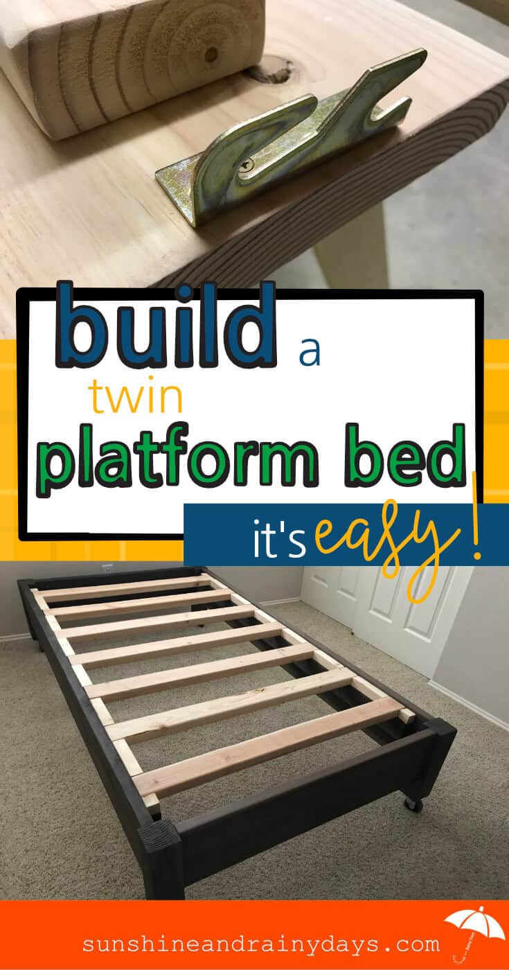 This Twin Platform Bed was EASY to build!