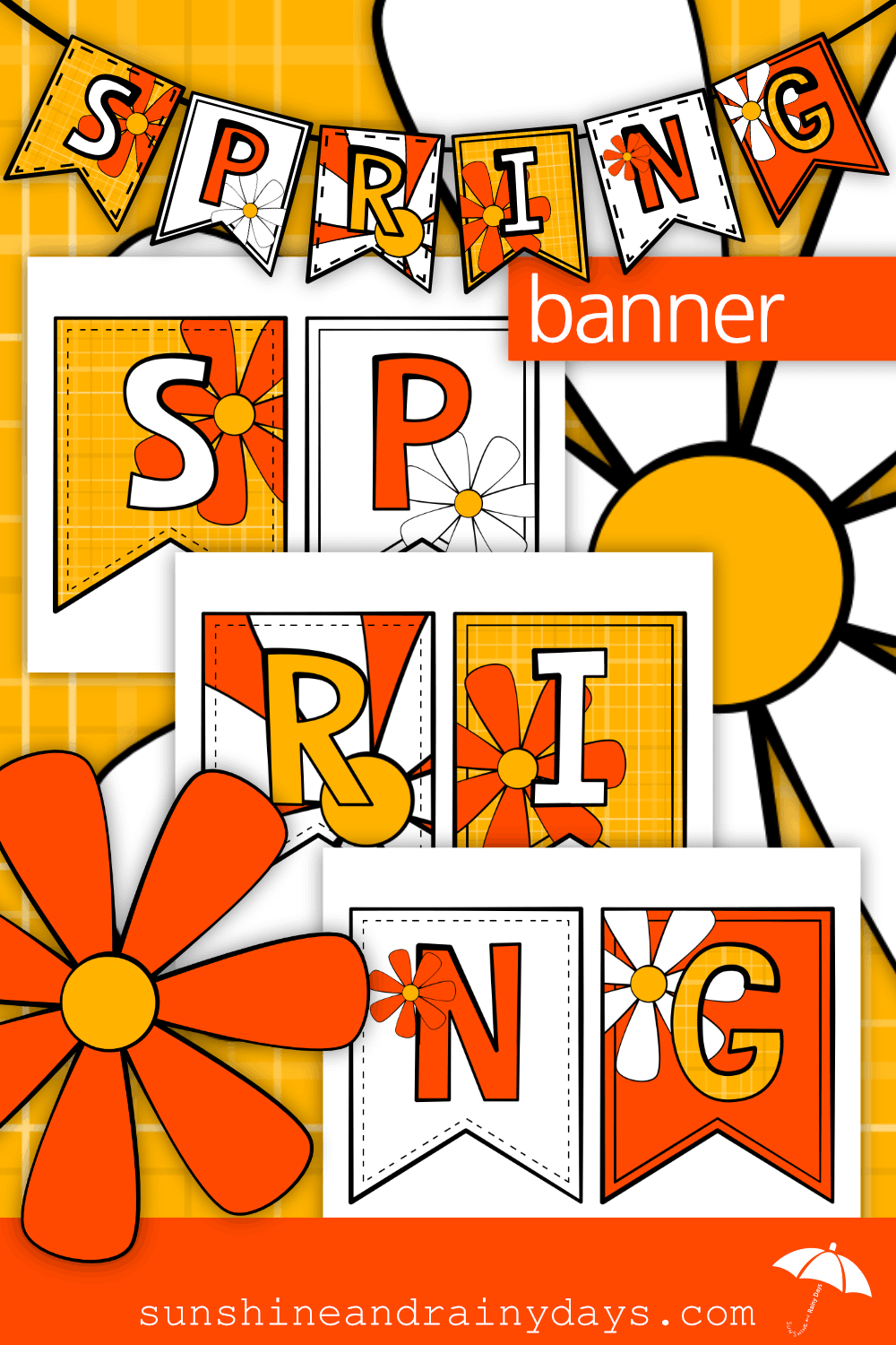 Printable Spring Banner to decorate for Spring!