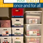 Storage box labels make it easy to see what's in your closet!