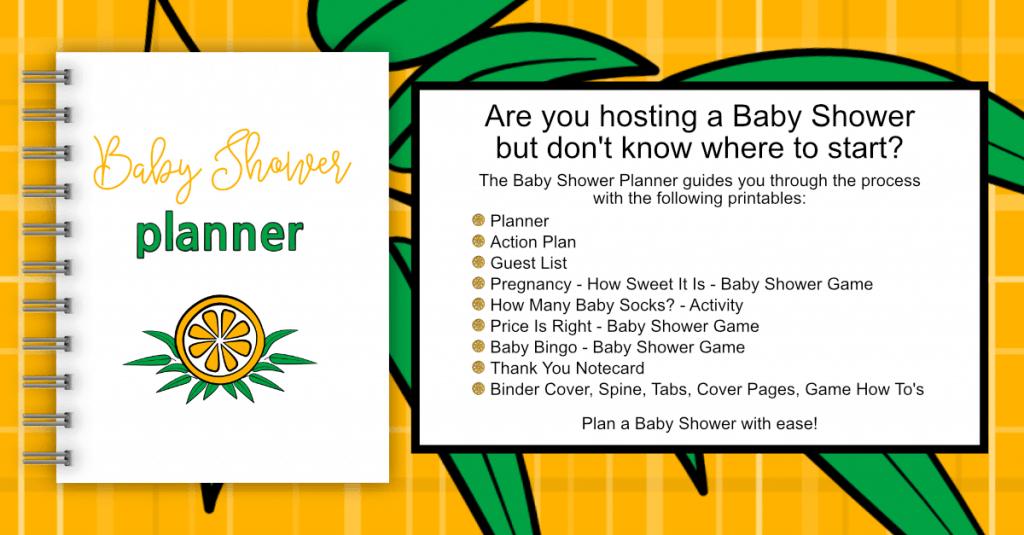 Baby Shower Binder