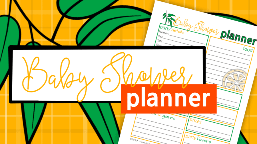 Baby Shower Planner Page