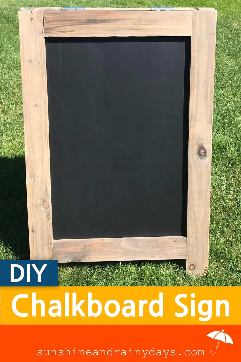 Build your own DIY Chalkboard Sign!