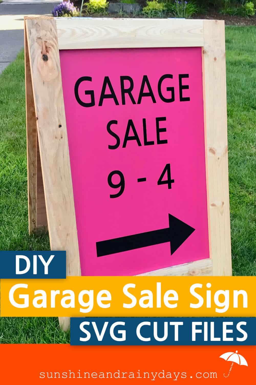 SVG Cut Files for Garage Sale Signs