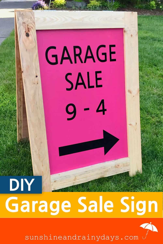 Garage Sale A-Board Sign