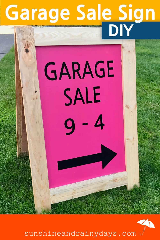 DIY Garage Sale Sign