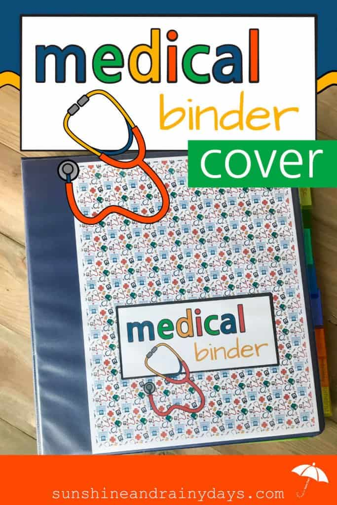 This Medical Binder Cover And Spine will make your Medical Binder easily identifiable!