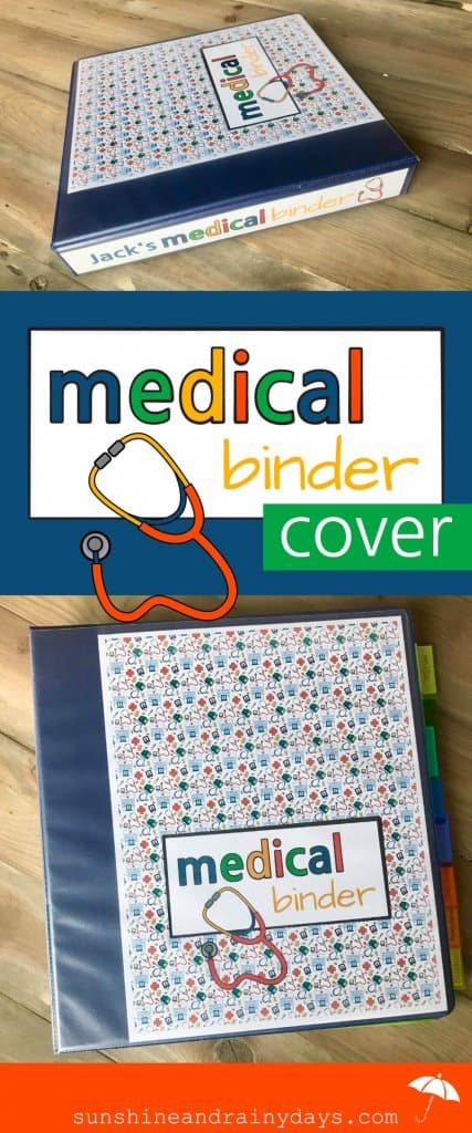 Medical Binder Cover And Spine inserts for clear view binders.