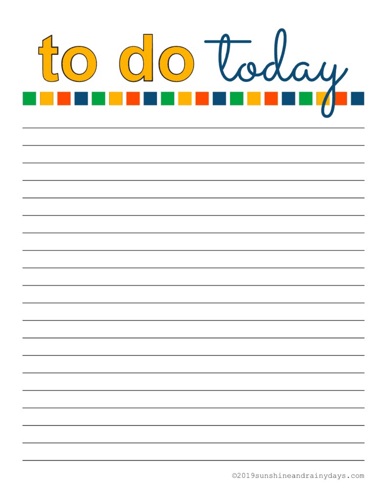 photo relating to To Do List Printables known as Day by day Towards Do Record Printables -
