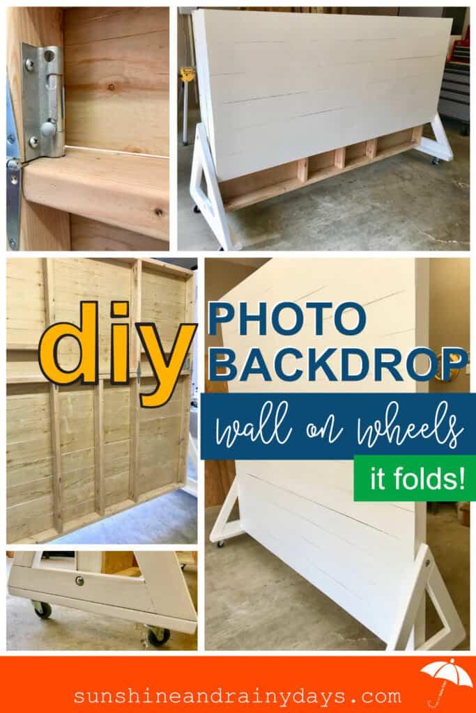 DIY Foldable Photo Backdrop Wall