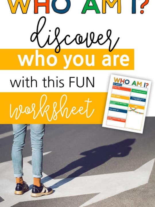 Who Am I - Discover Who You Are With This FUN Worksheet