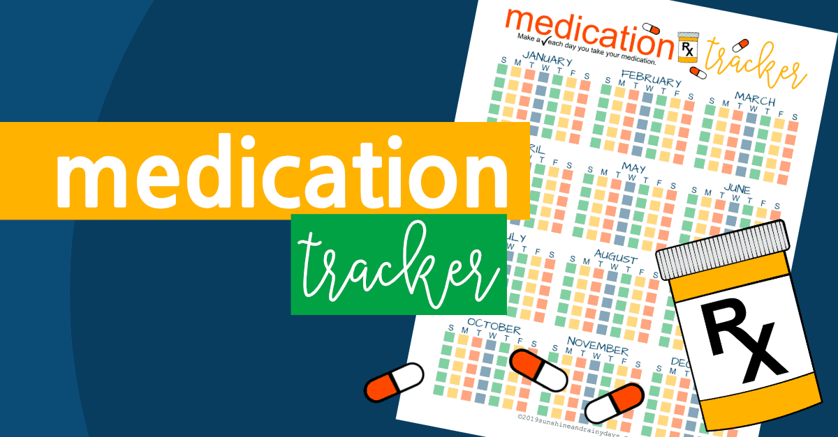 Medication Tracker Printable
