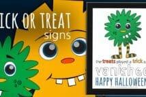 FUN Printable Halloween Signs For Your Door
