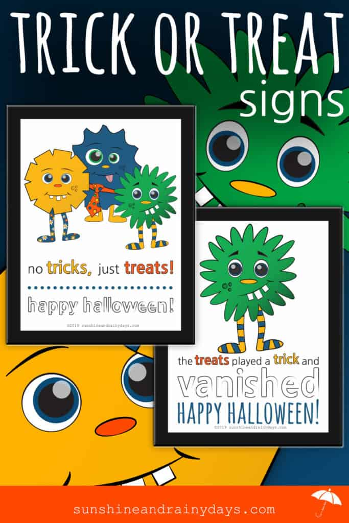 Halloween Trick Or Treat Signs