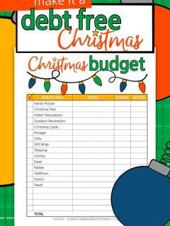 Christmas Budget printable for a Debt Free Christmas