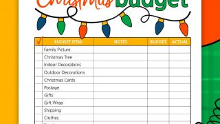 Christmas Budget printable for a Debt Free Christmas