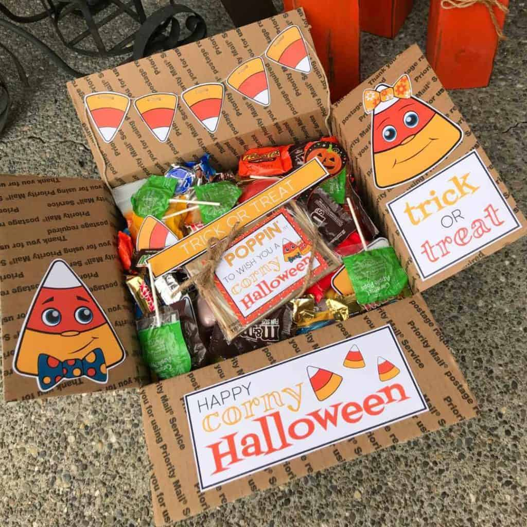 Halloween care package with Candy Corn printables!