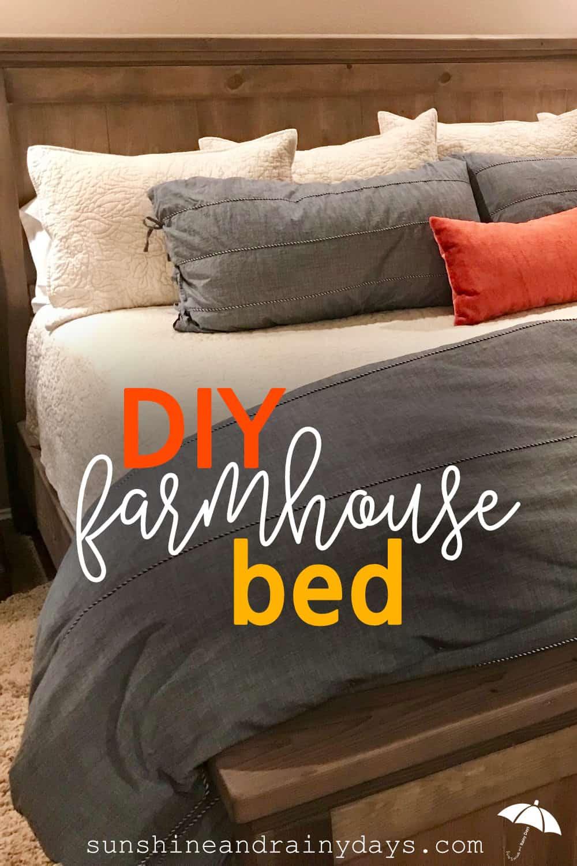 Diy King Size Farmhouse Bed Sunshine And Rainy Days