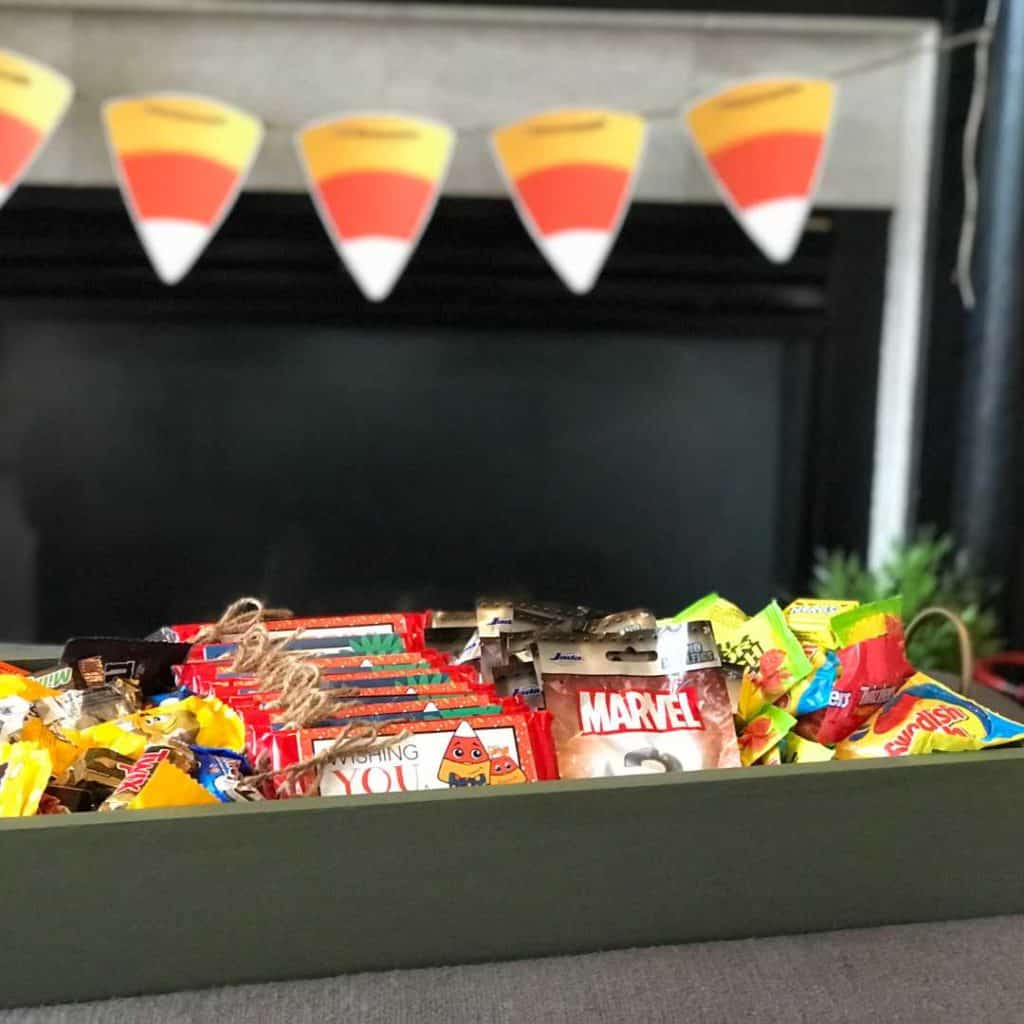 Trick or Treat Tray full of goodies for Trick or Treaters!