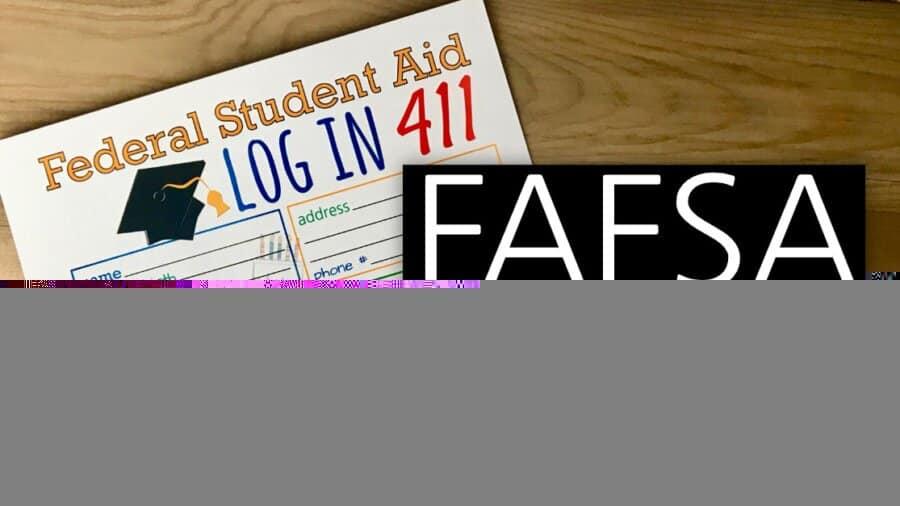 FAFSA Log In Sheet