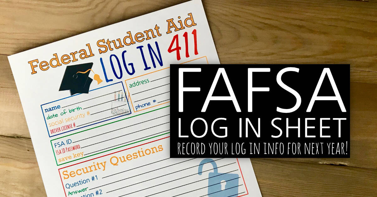 FAFSA Log In Sheet