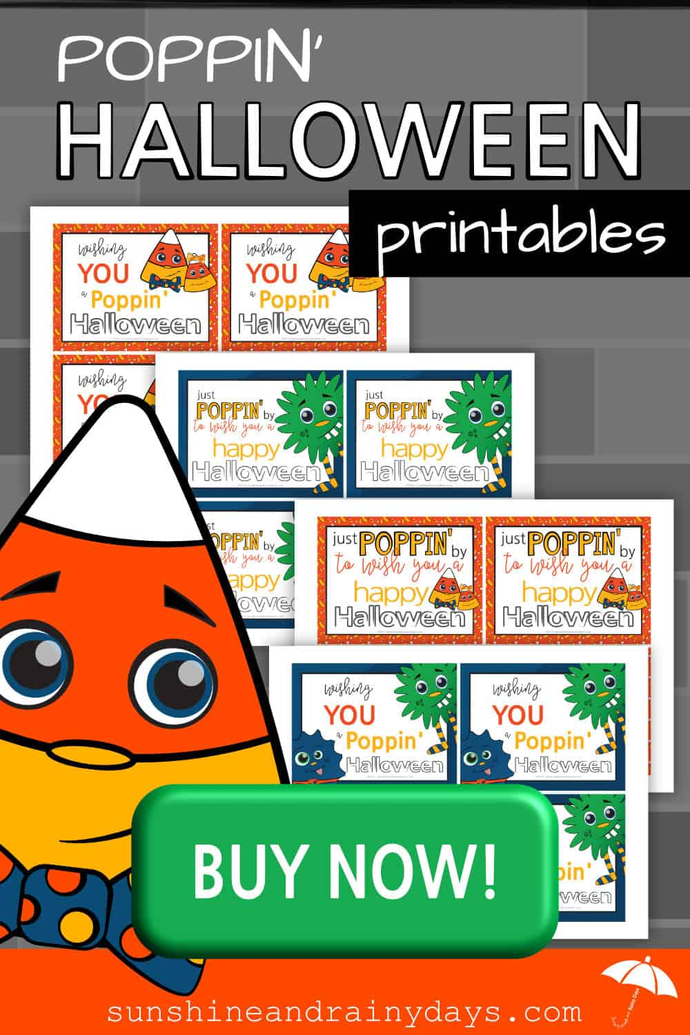 Have a Poppin' Halloween Printables