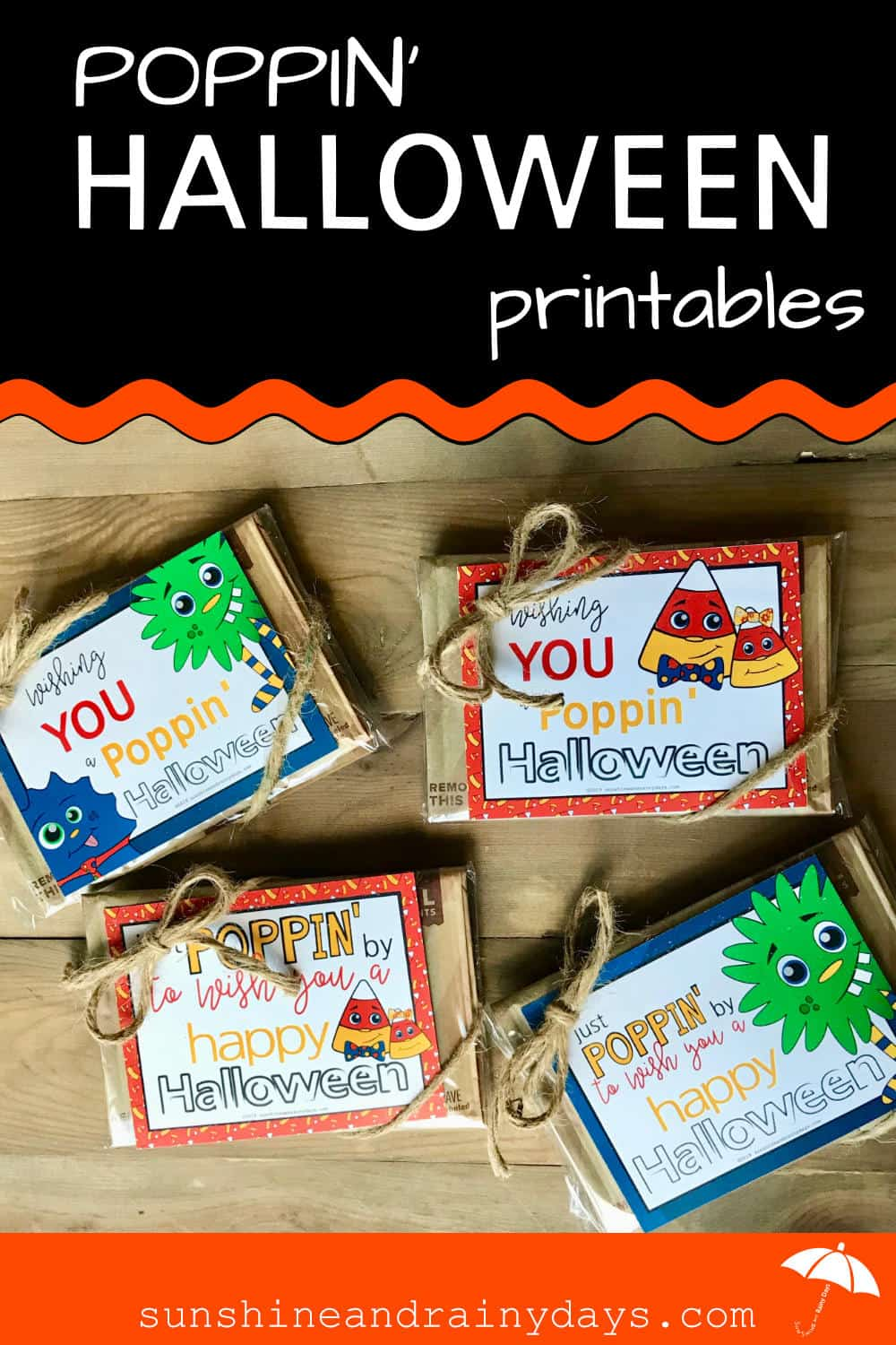 Poppin' By To Wish You A Happy Halloween Printable