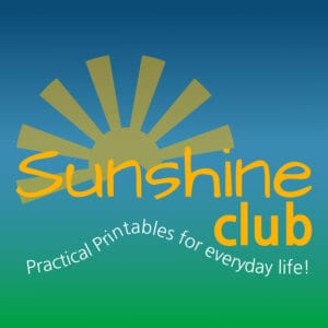 Sunshine Club For Printables
