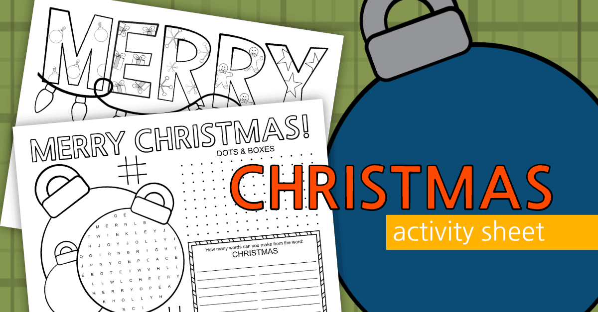 Christmas Activity Page