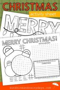 Christmas Activity Sheet