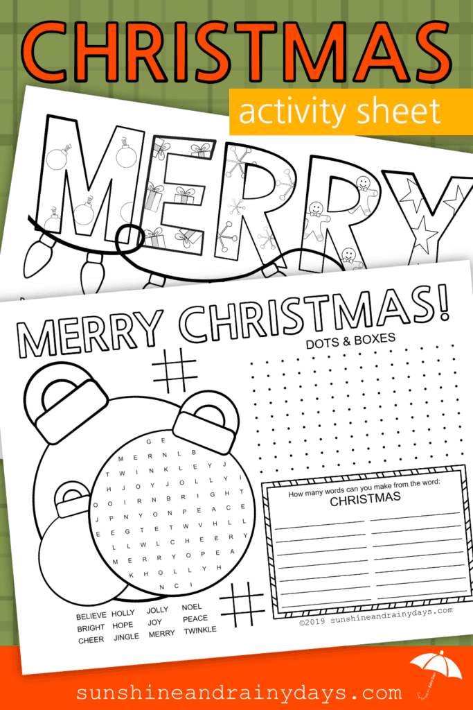 Christmas Activity Sheet