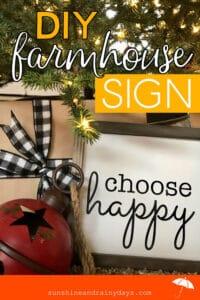 DIY Farmhouse Wood Sign