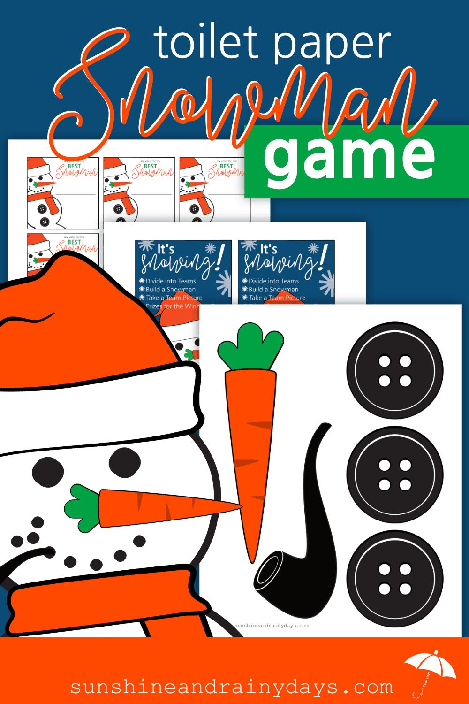Toilet Paper Snowman Game Printables