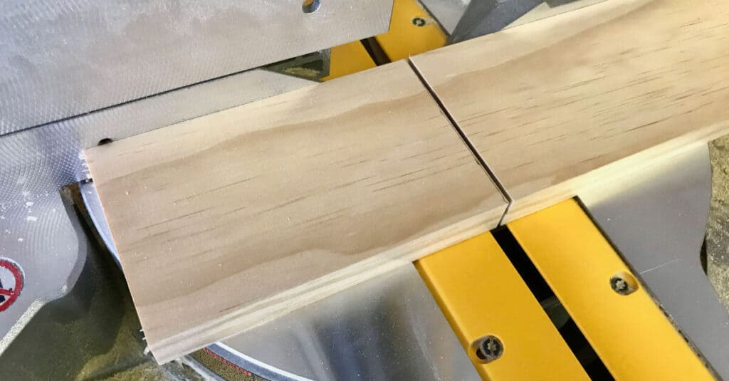1 x 4 is cut and ready to sand