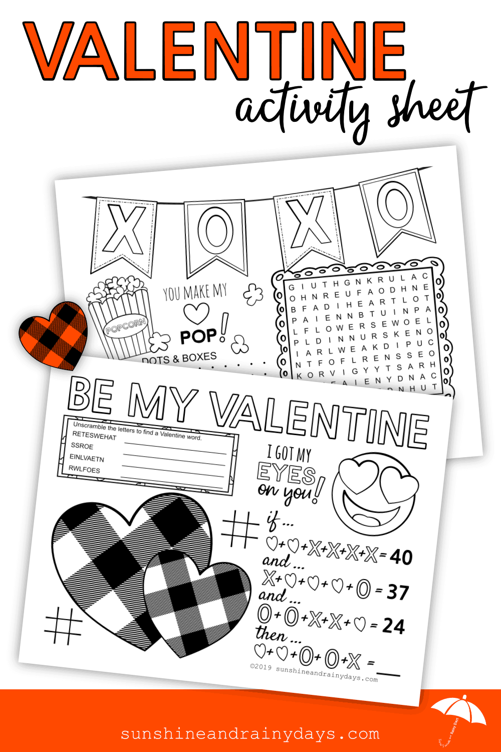 Valentine Activity Sheet