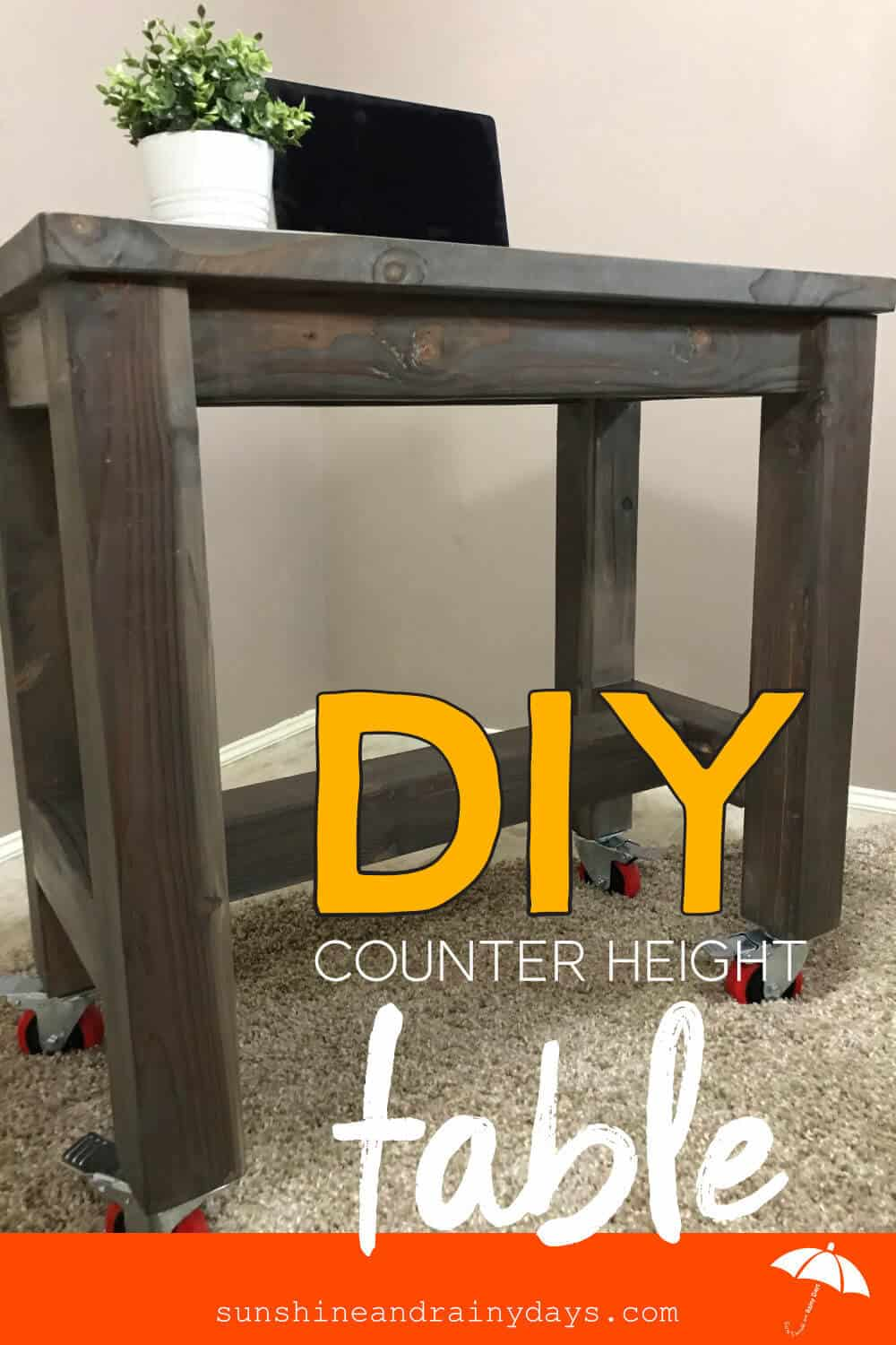 DIY Counter Height Table