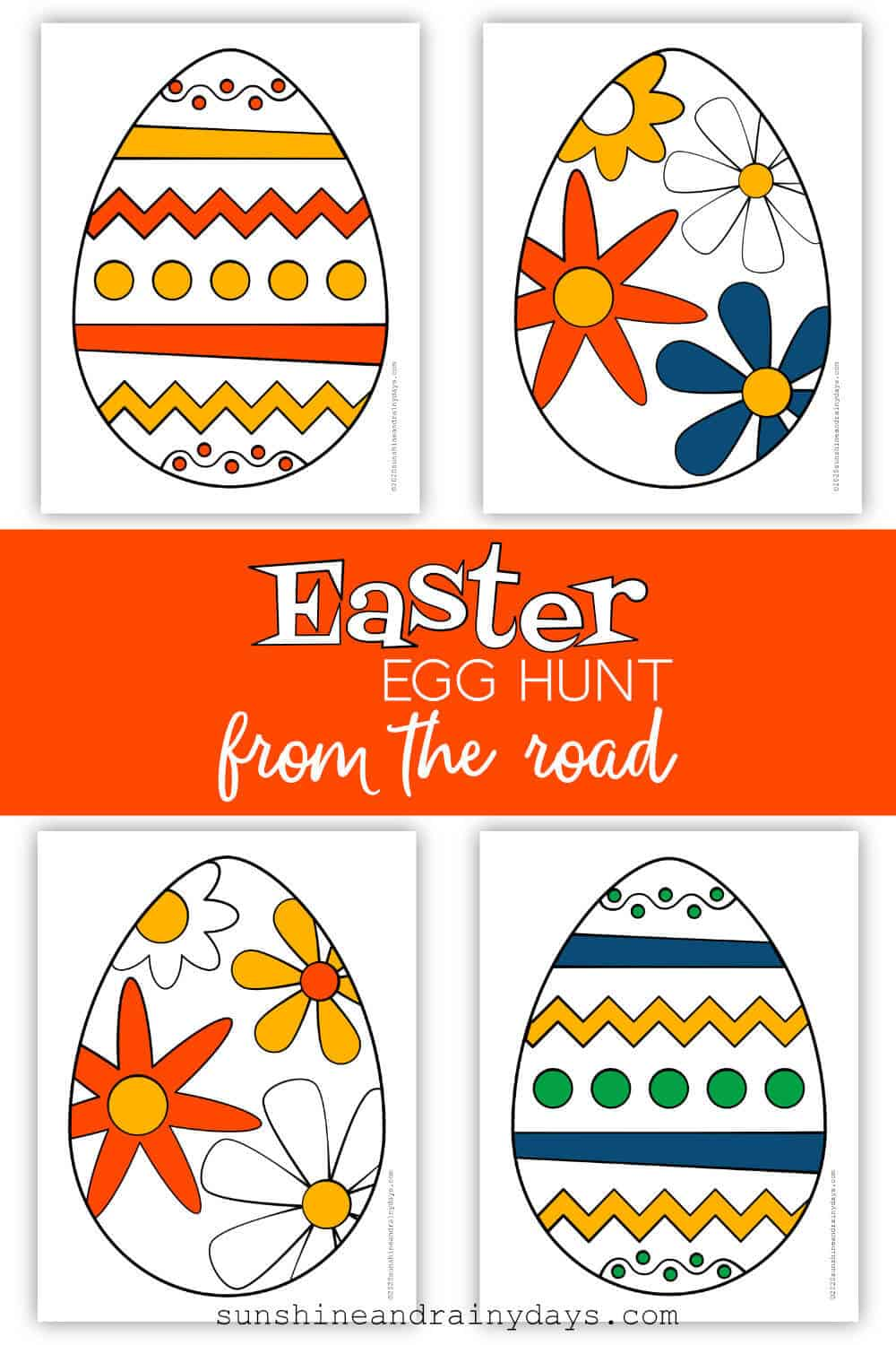 Easter Eggs To Cut And Place In A Visible Spot From The Road For An Easter Egg Hunt From The Road