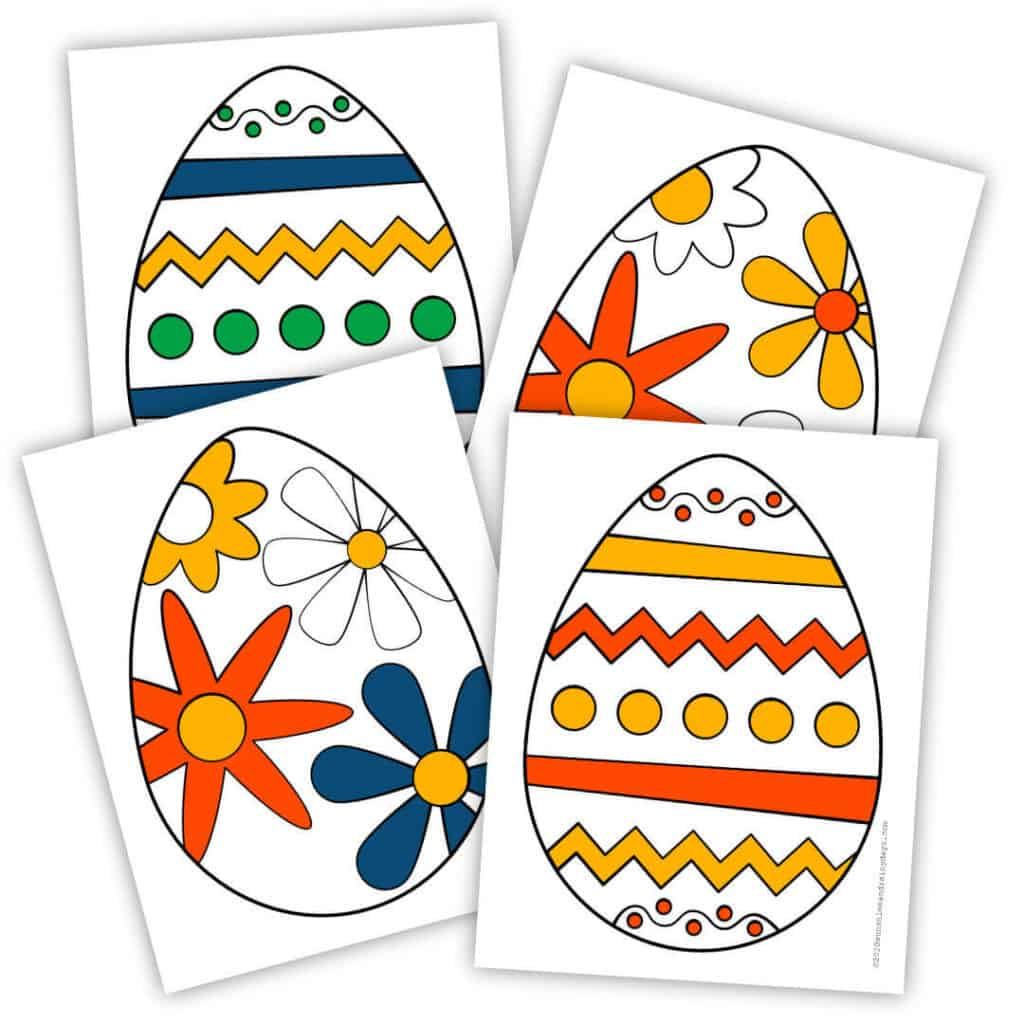 Easter egg hunt, from the road, printables.