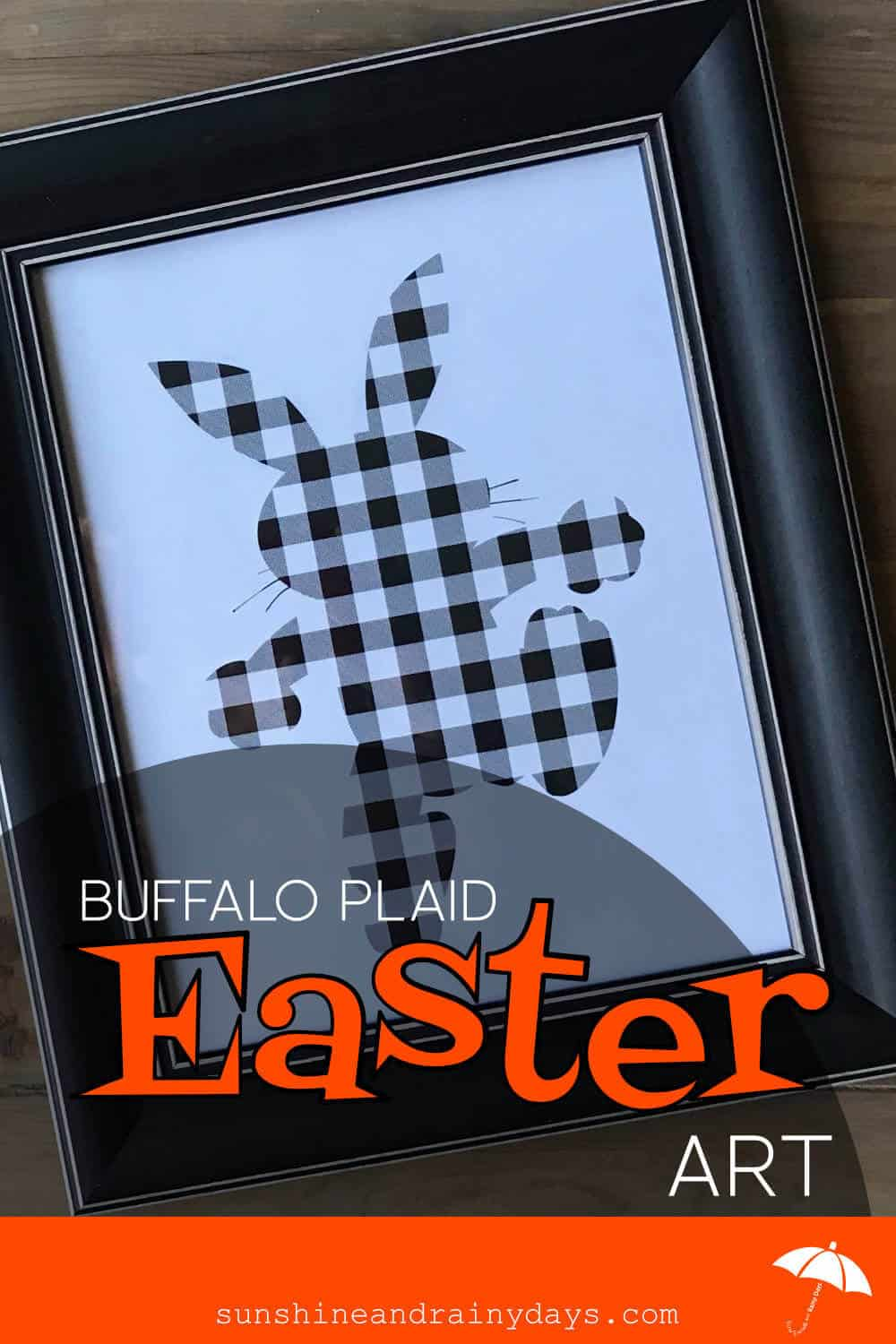 Easter Bunny in Buffalo Plaid for Farmhouse Easter Decor