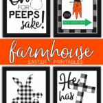 Printable Farmhouse Easter Signs