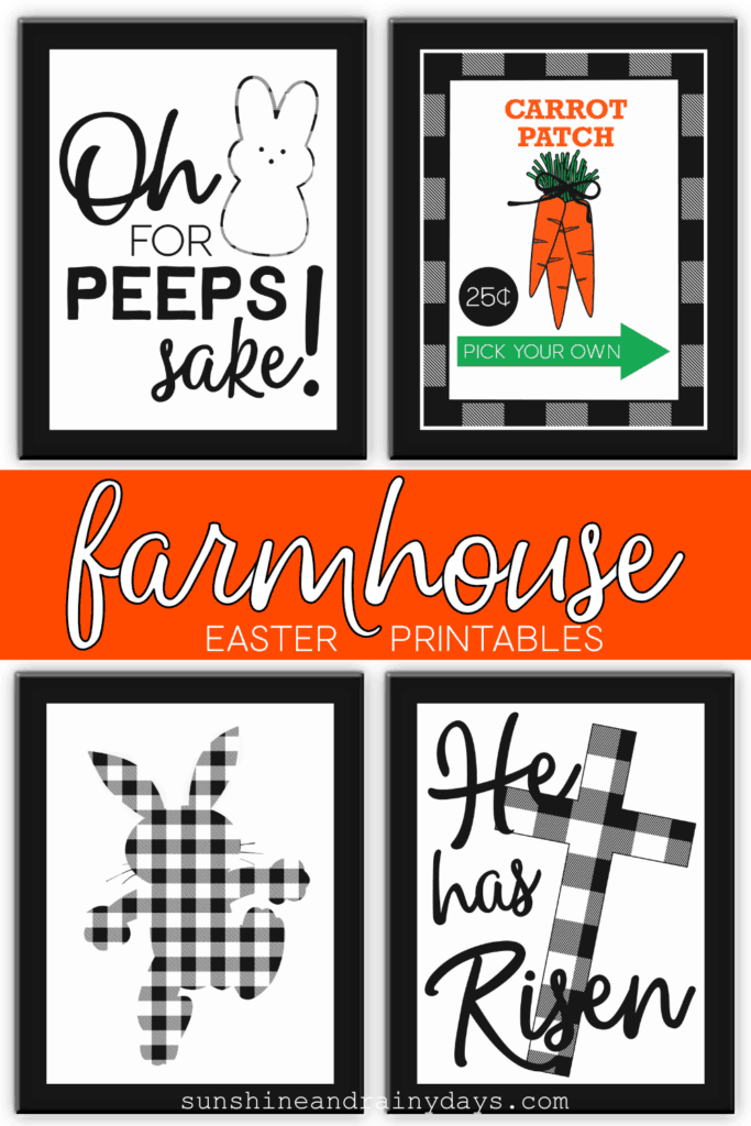 Printable Farmhouse Easter Decor