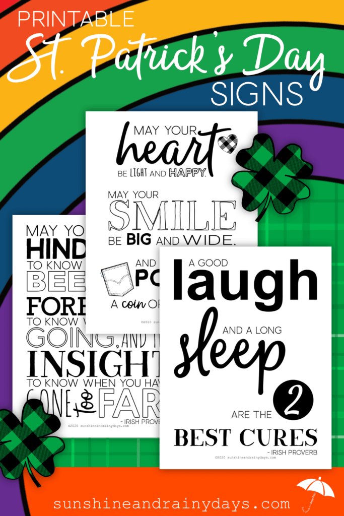 St. Patrick's Day Irish Proverb Printables