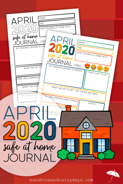 April 2020 Safe At Home Journal Pages