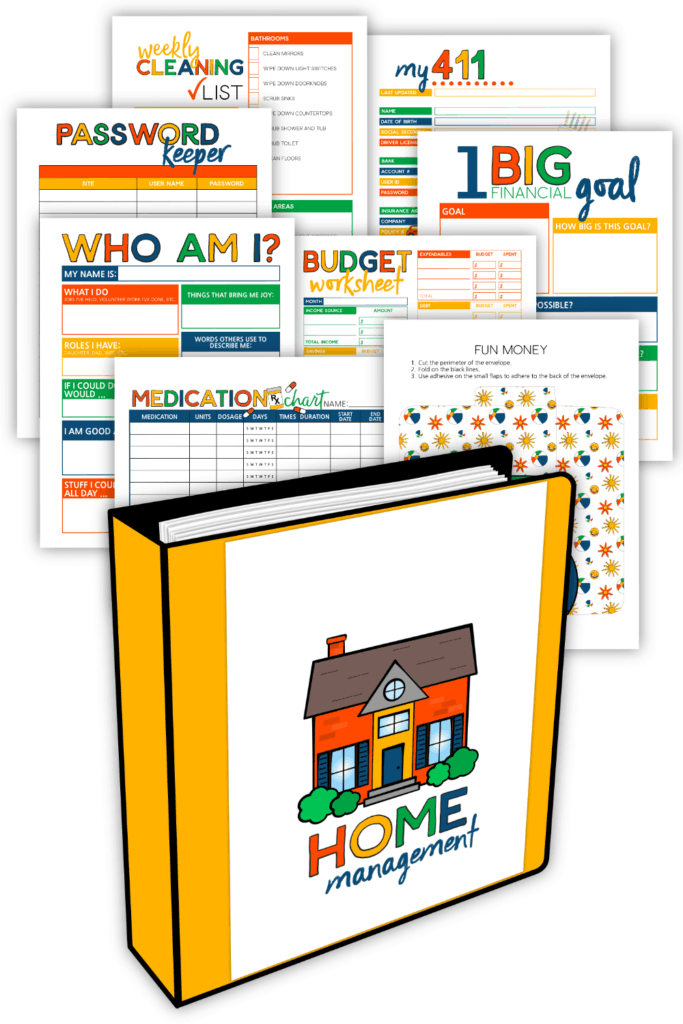 Home Management Binder System For Young Adults