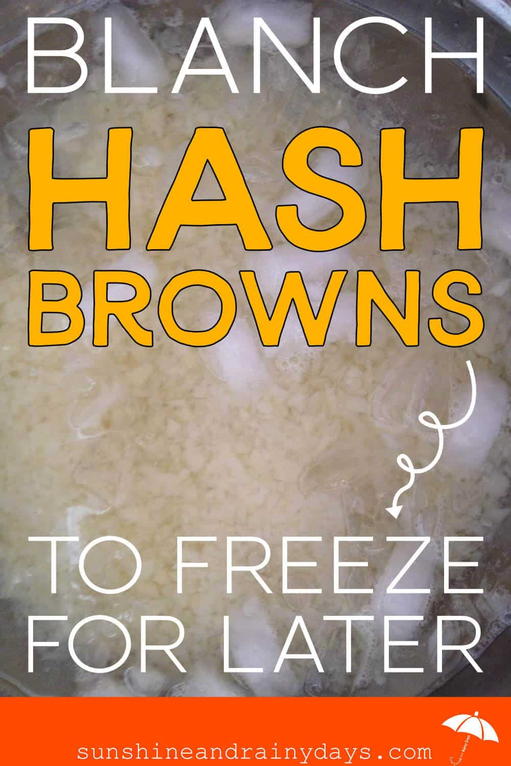 Blanch Homemade Hash Browns To Freeze For Later