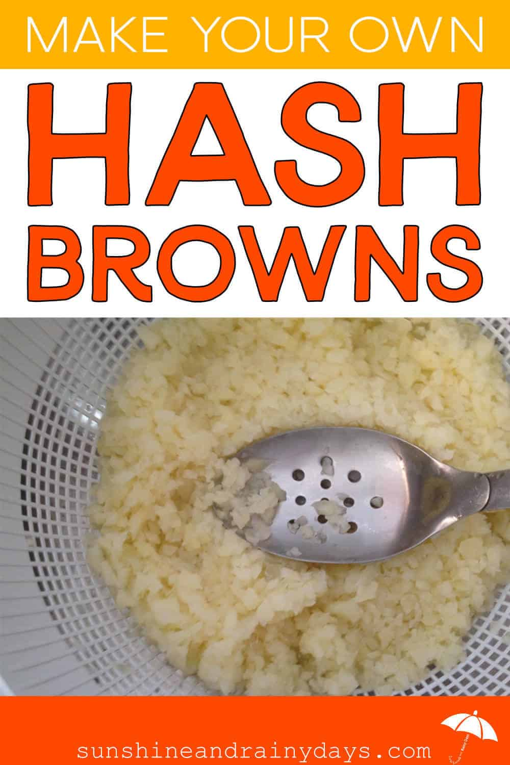 Press Water Out Of Homemade Hash Browns That Have Been Blanched
