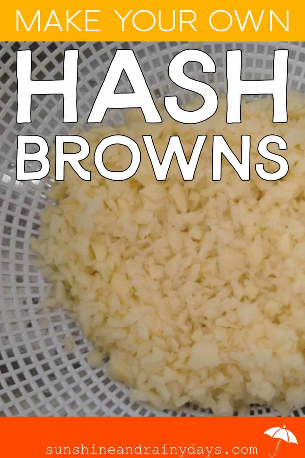Homemade Hash Browns In A Colander